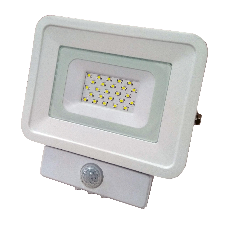 LED reflektor SMD CLASSIC2 PIR IP65 bílý 10W 6000K